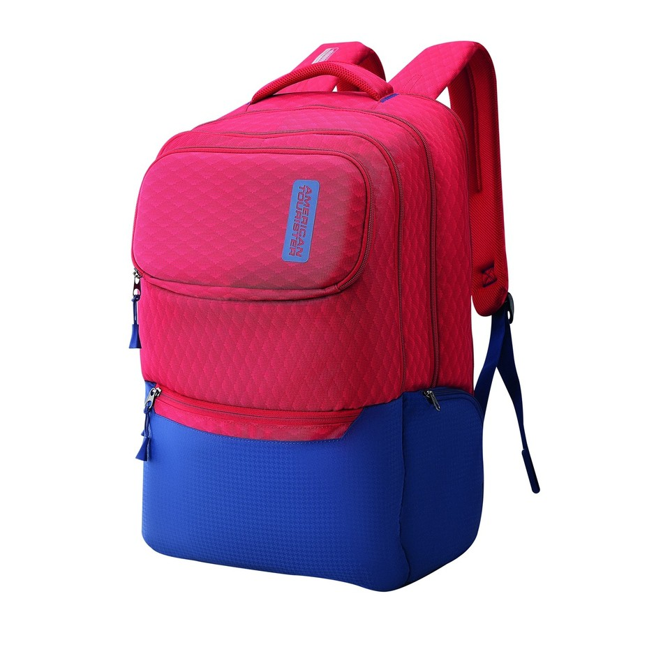 American Tourister  VIBE+  BACKPACK 01 A-RED/BLUE
