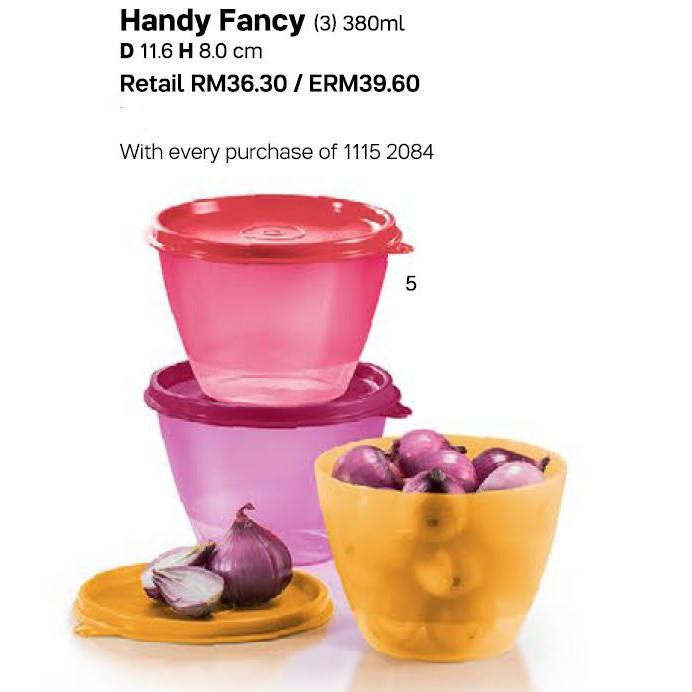 Handy Fancy (3) 380ml (New Tupperware)