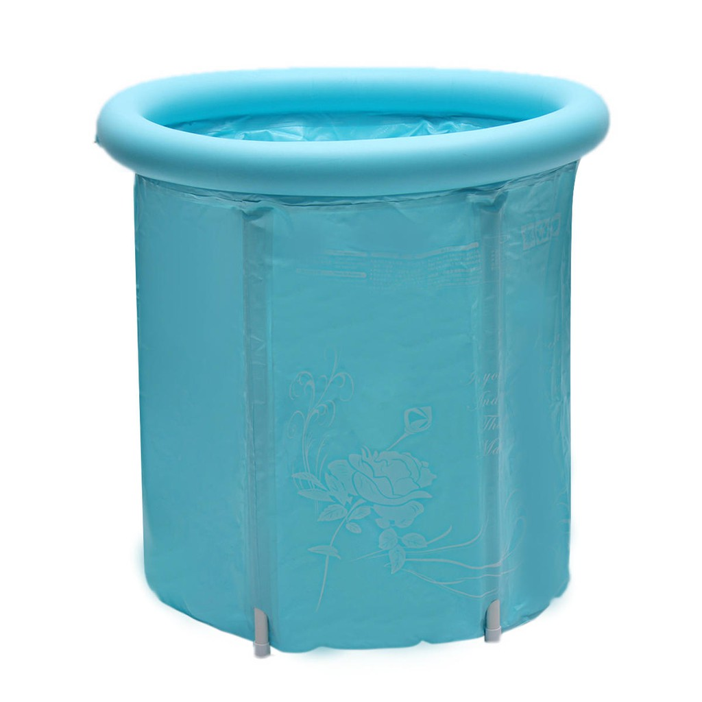 30Inch Portable Folding Inflatable Bathtub Outdoor Camping Traveling PVC Bath Tub Bath Barrel