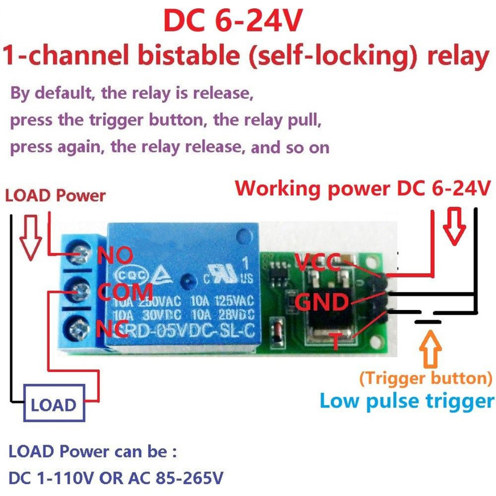 Gs Trigger Cycle Timer Delay Switch Circuit Board Mos Tube Control Relay Module 12 24v Shopee Malaysia