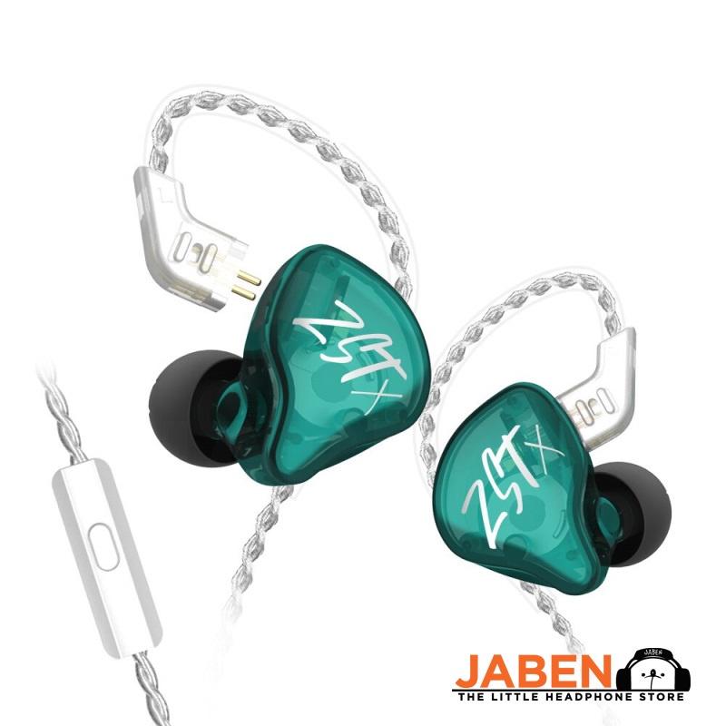 KZ ZST X  Hi-Res Dual Driver Hybrid (1DD + 1BA) Detachable 0.75mm 2-Pin Wired In-Ear Earphones [Jaben]