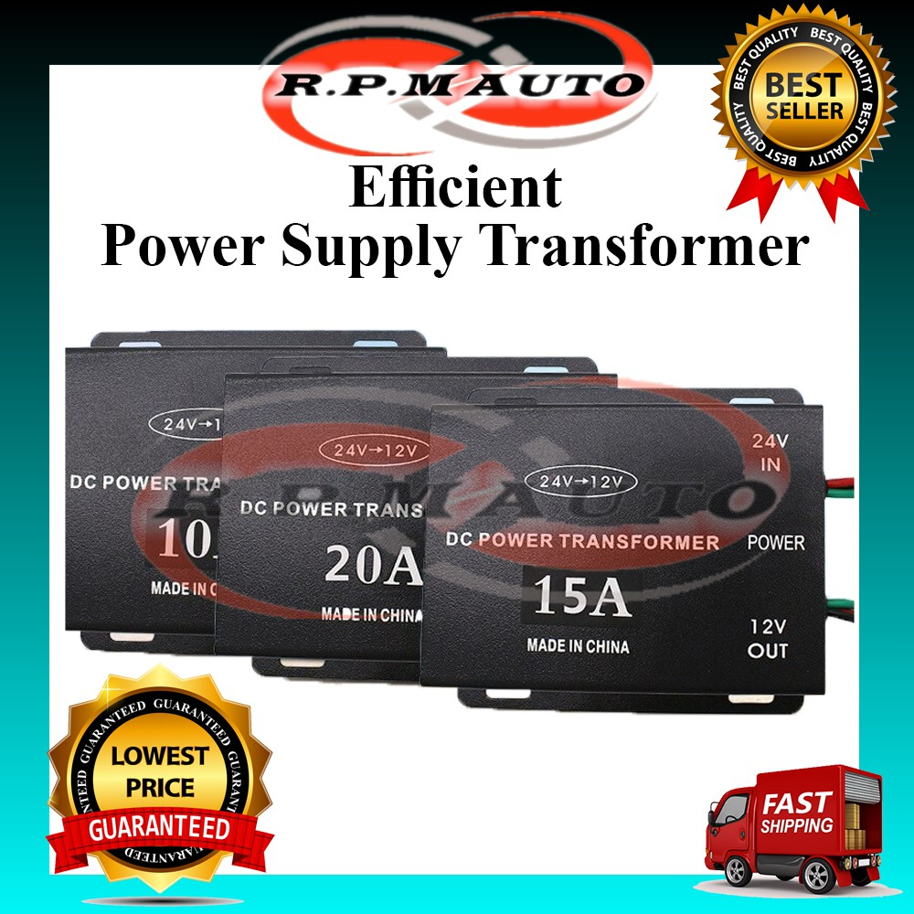 DC 24V To 12V 10A 15A Power Supply Transformer Converter kereta elektrik current kereta