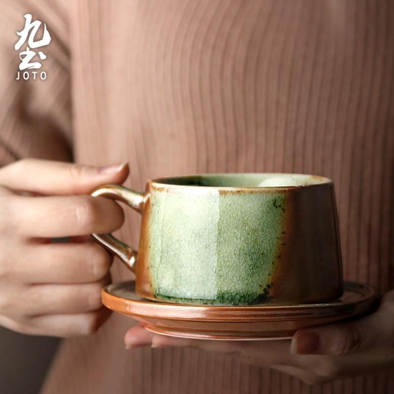 Handmade Ceramic Coffee Cup With Saucer