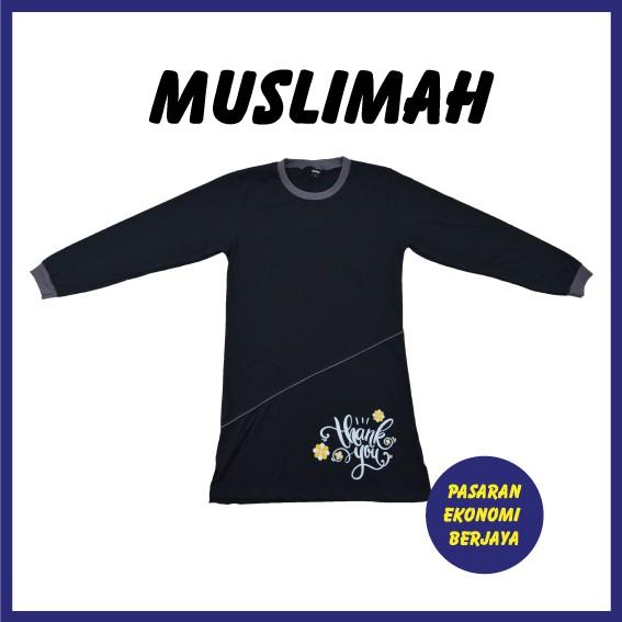 BAJU TSHIRT MUSLIMAH DEWASA 0083#/ TSHIRT MUSLIMAH PRINTED/ MUSLIMAH SHIRT/ ADULT SHIRT/ PRINTED SHIRT