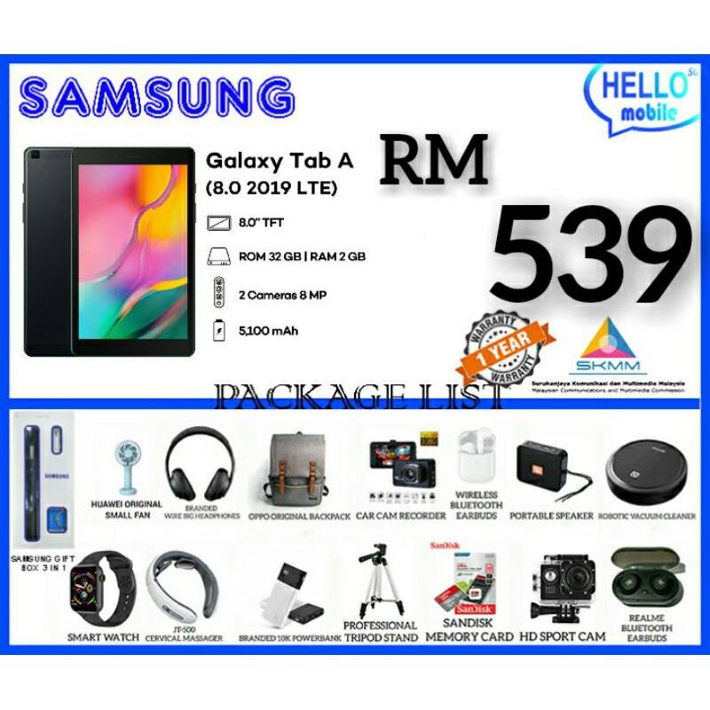 SAMSUNG GALAXY TAB A 8.0 2019 T295 (Original MY Set ) 2GB RAM 32GB ROM ROM 5100MAH