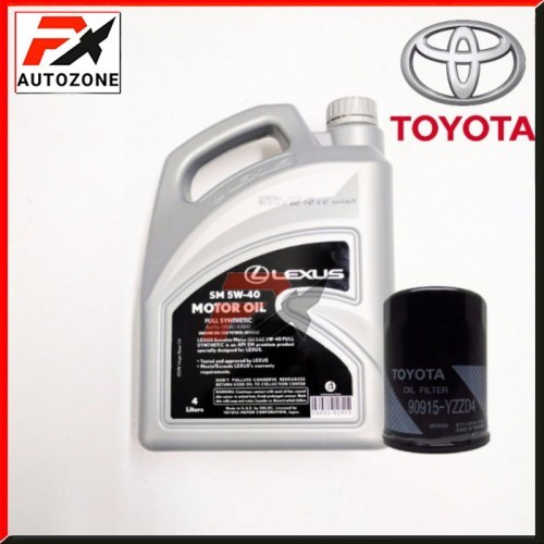 Favourite X - LEXUS 5W-40 Fully Synthetic Engine Oil +Toyota D4 Oil Filter  (4L)
