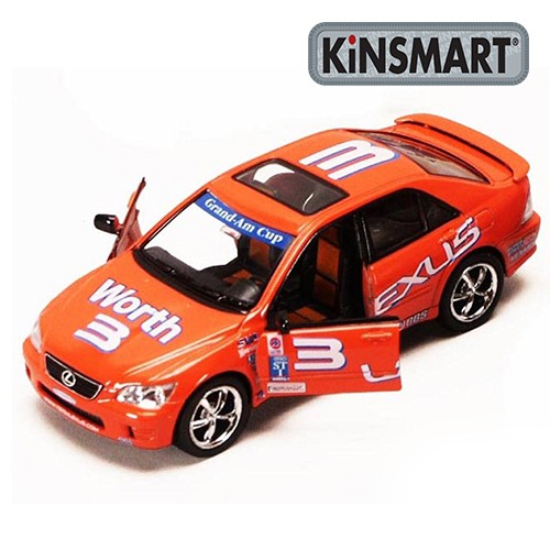 Kinsmart Street Fighter Lexus, Orange diecast Model Grey Model Collection New 1:36