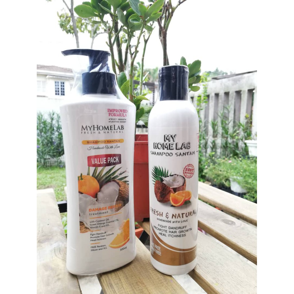 ORIGINAL SHAMPOO SANTAN MYHOMELAB 250ML/300ML (HEALTHY HAIR AND HEAD SCALP TREATMENT)