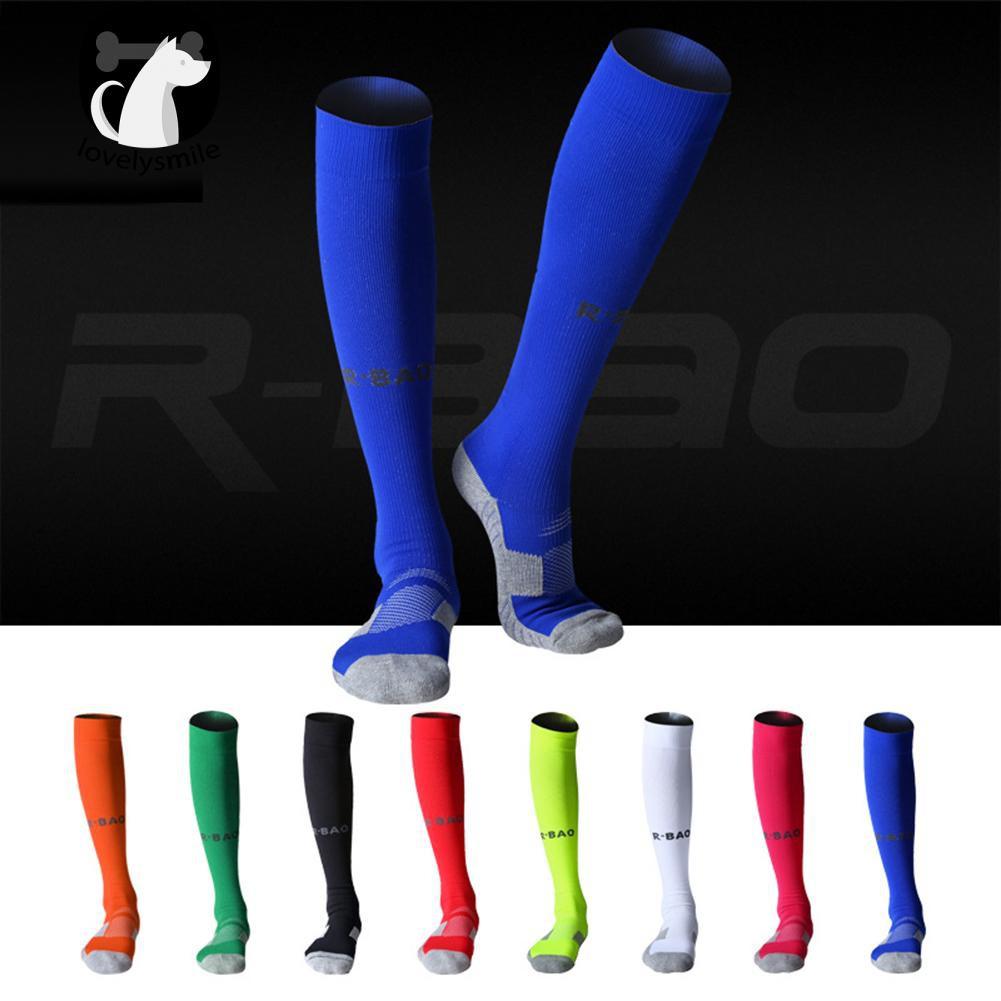 d990087e3 L ~1 Pair Long Soccer Socks Sport Football Ankle Calf Guard ...