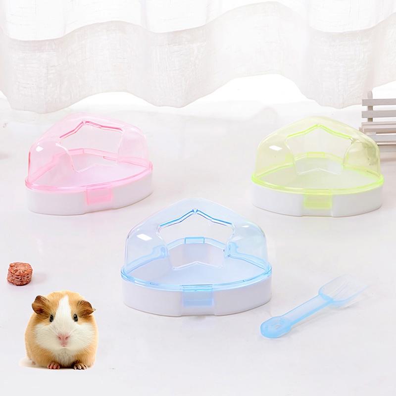 transparent pet Hamster Bath box Sauna Sand Bath Room Bathing Potty Toilet