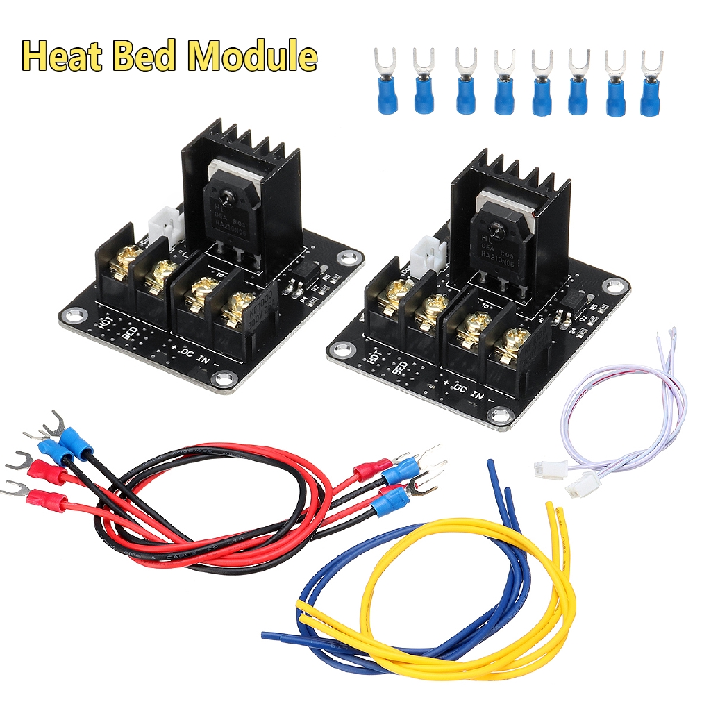 Active Components Intelligent 2pcs 30a Mos Tube Heat Bed Power Module Expansion Board Mos Tube Hotend Replacement With Cables For 3d Printer Parts Integrated Circuits