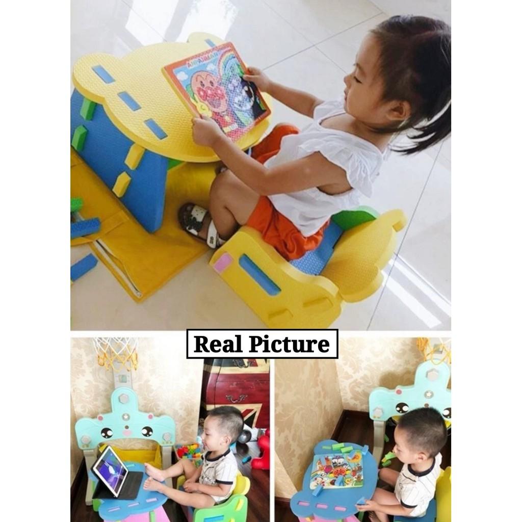 [ READY STOCK ]  Multi Part Dismantling Type Children Kid Baby Learn To Use EVA Foam Chair Table Jualan Murah Kerusi Meja