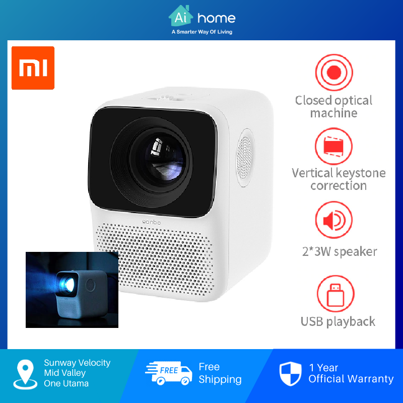 Wanbo T2 Free Projector with 1 Year Malaysia Warranty [ Ai Home ]