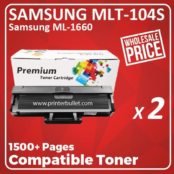 2 unit Samsung MLT-D104S / MLT104 / MLTD104s Compatible