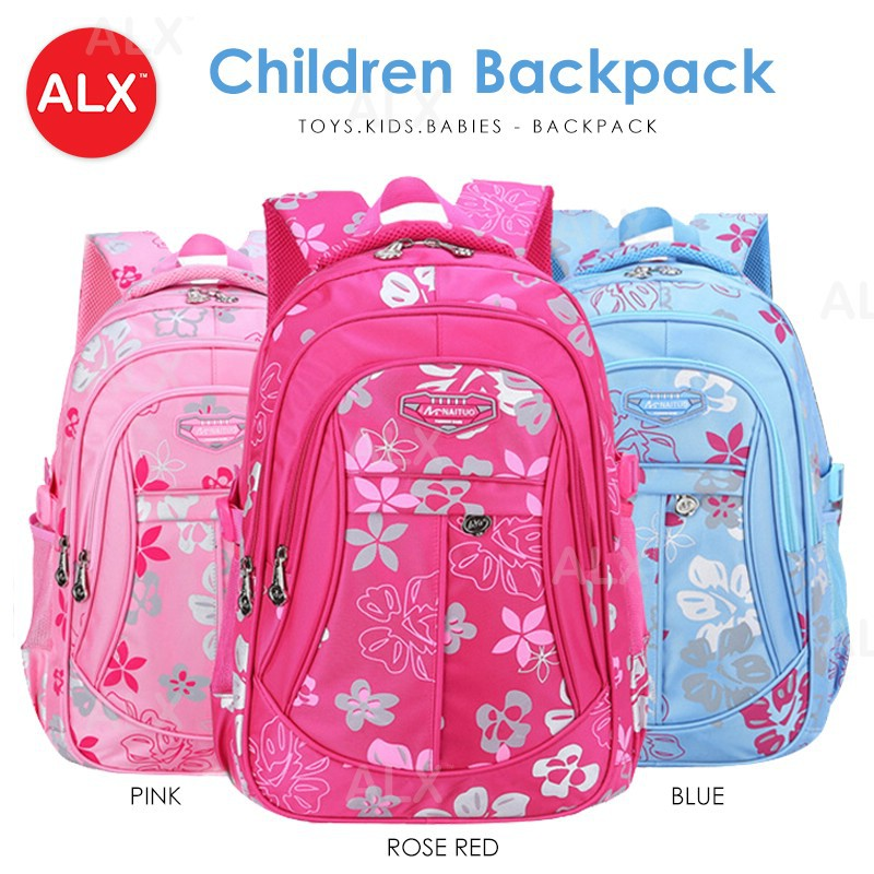 6819ef19c0 Colorful Floral Girl Student Backpack   Kids Light Weight School Bag E1  MC062