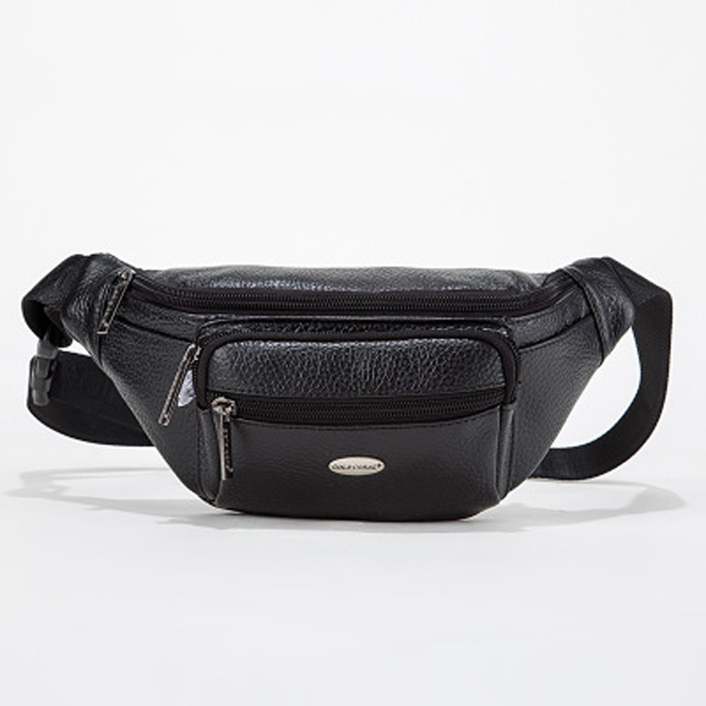 56859e83e535 GOLD CORAL Genuine Leather Casual Fanny Pack Belt Waist Bag