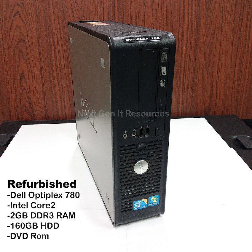 Refurbished DELL Optiplex 780 Core2 2GB RAM 160 HDD