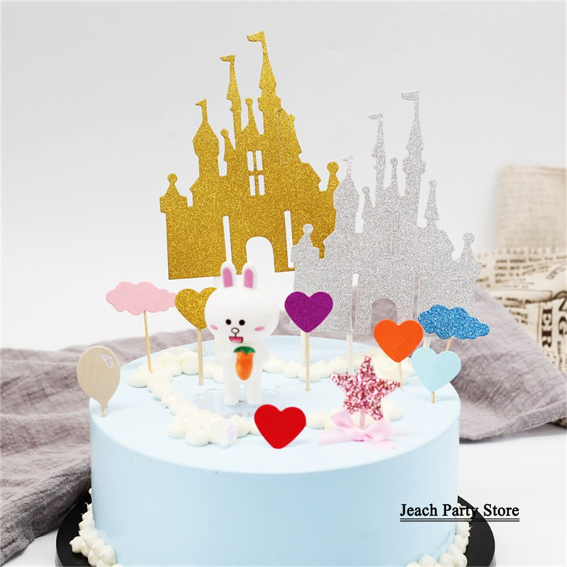 Awesome Flag Cake Topper Castle Princess Girl Women Children Party Funny Birthday Cards Online Inifofree Goldxyz