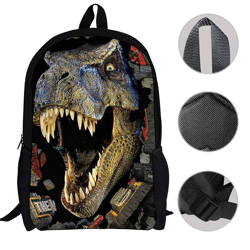 Fashion 3D Dinosaur Print School Bags Book Bag Backpack