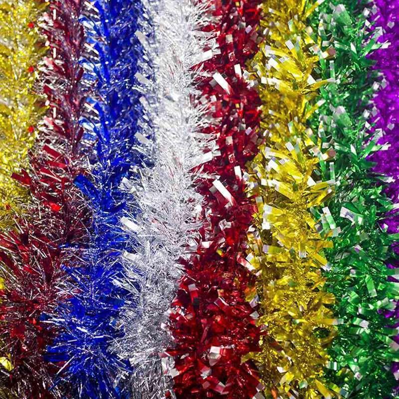 Christmas Glitter Tinsel Tree DIY Chain Garland Xmas Home Party Decor Art UK