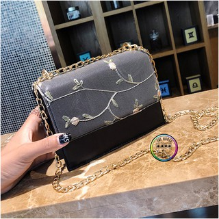 f3fc865e18bb Women Casual Handbags Flower Lace Nature Flora Sling Bag Shoulder ...