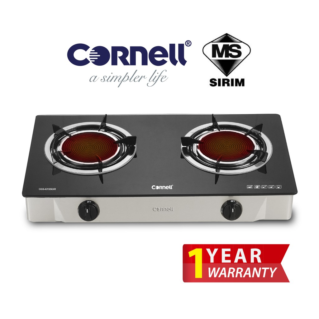 Cornell Infrared Glass Top Gas Stove CGS-G155GIR