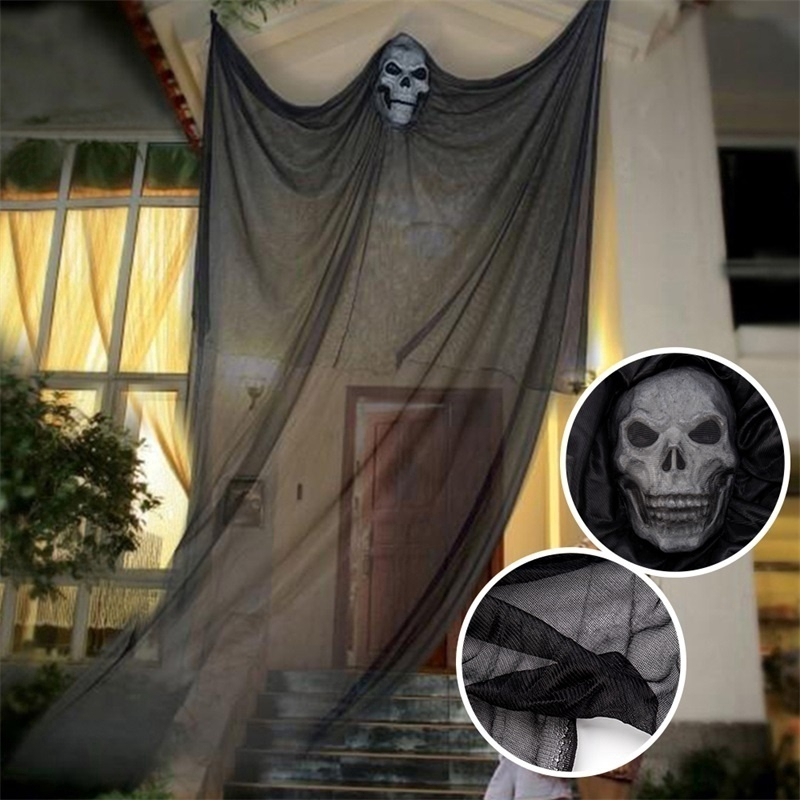 Beautifule Halloween Hanging Creepy Ghost Curtain Party Decoration Display  Prop