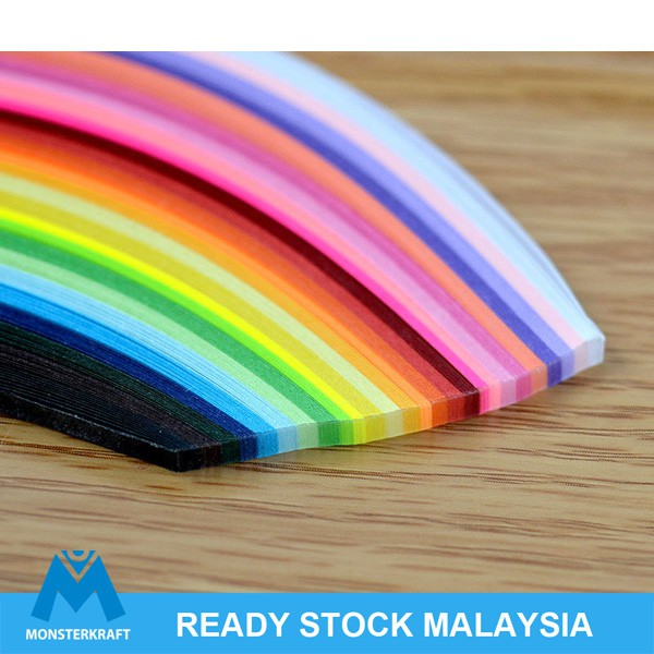 95 Pcs Paper Quilling Colorful Strips Art Craft Supply Ribbons 5 Mm Wide Stripes