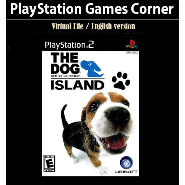 PS2 Game The Dog Island, Virtual Life Game, English version / PlayStation 2
