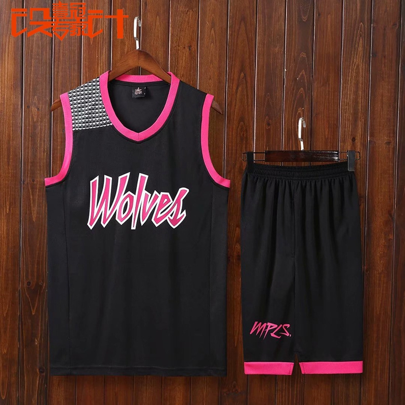 Timberwolves Jersey Retro Jersey City Edition Match Training Team