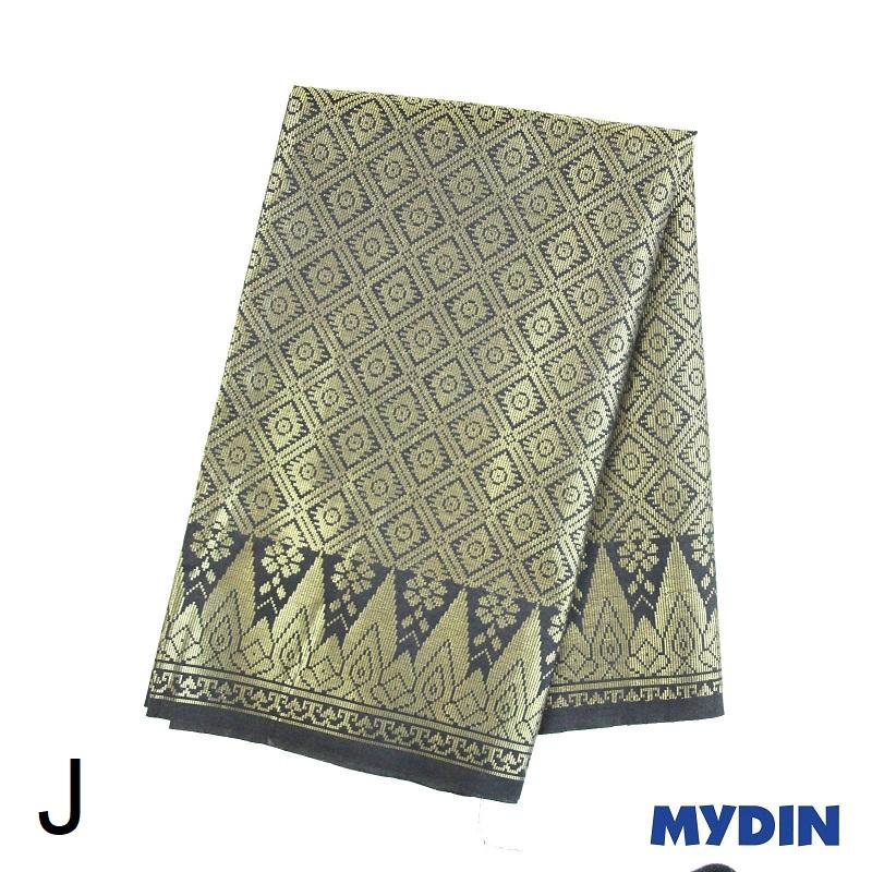 """Men Sampin J Raya - Gold on Black with Designs (2m x 32"""") 0819SRLXBP01 #Raya"""
