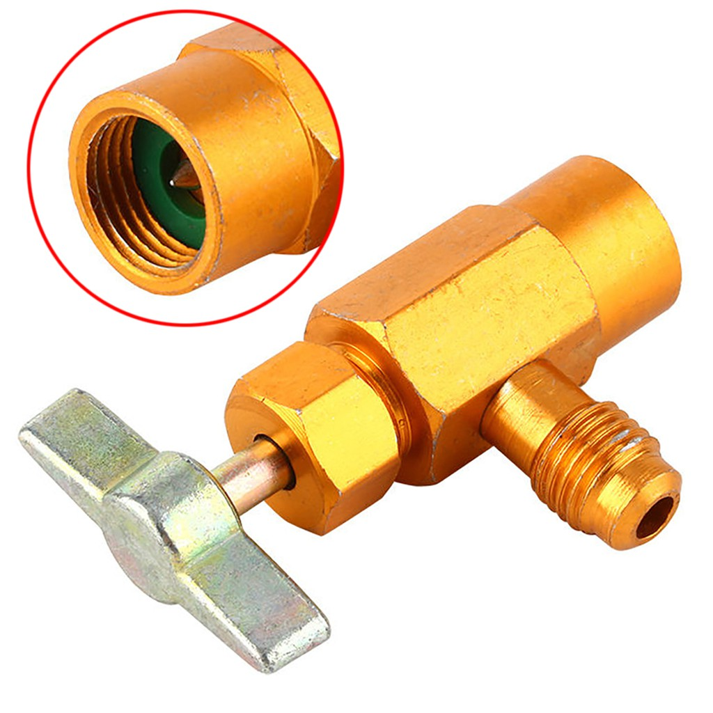 "AC R-134a Refrigerant Brass Tap Can Dispensing 1//2/"" ACME Thread Valve M16 Thread"