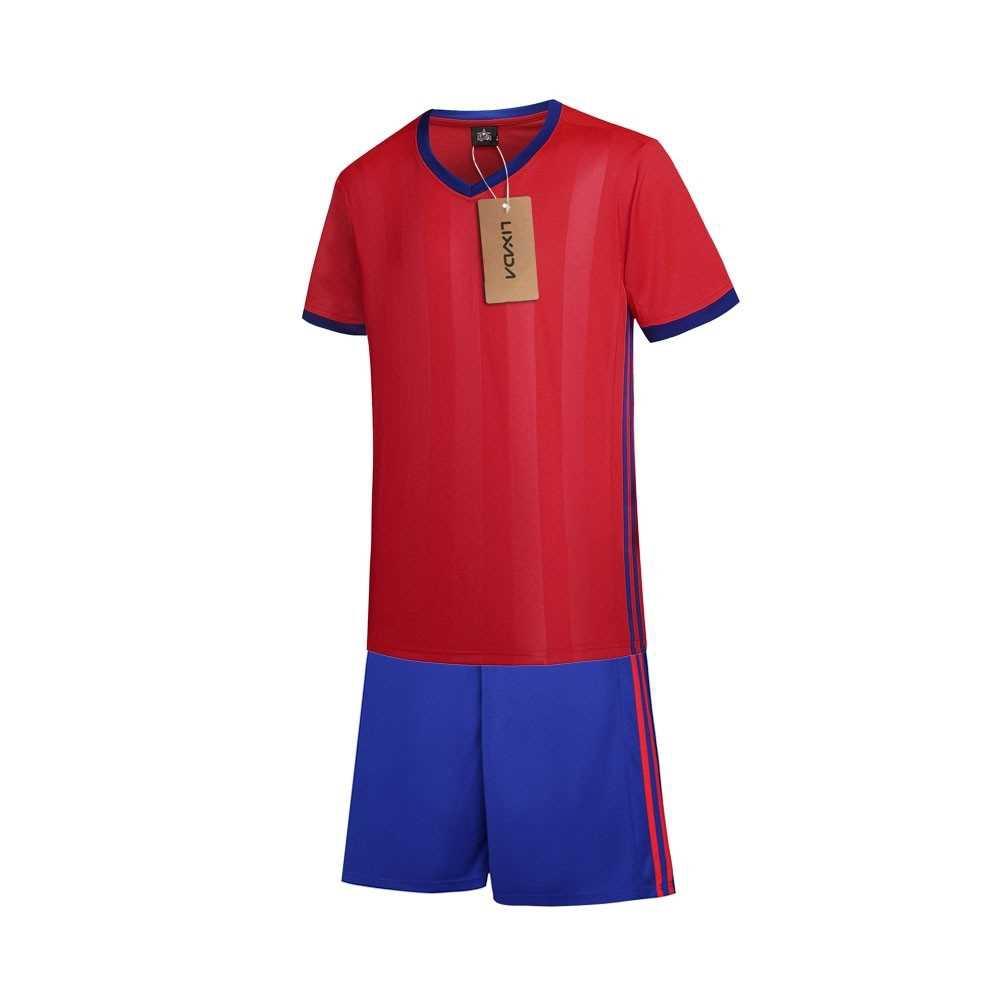 Lixada Football Shirt Uniforms Set (red)