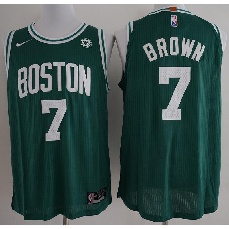 979c650f651 2018 Hot Sale Original NIKE NBA Boston Celtics Jaylen Brown #7 green  basketball jersey S-XXL