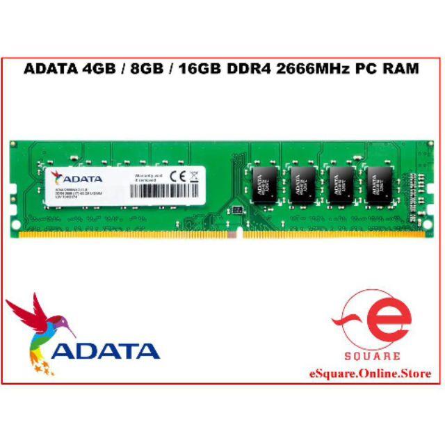 ADATA DDR4 2666 4GB / 8GB / 16GB PC RAM