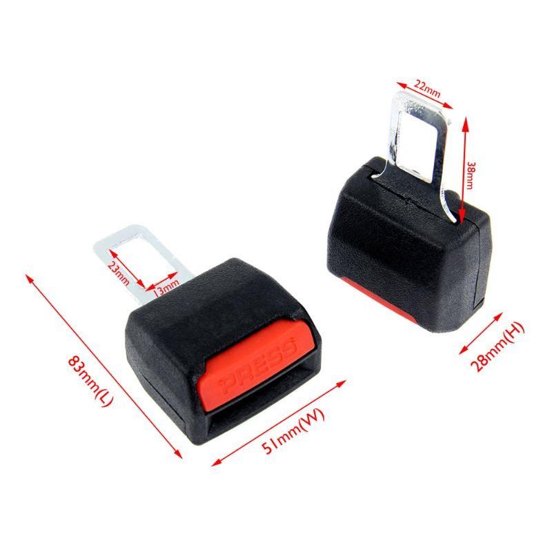2 Universal Car Safety Seat Belt Clip Extender Extension Black New