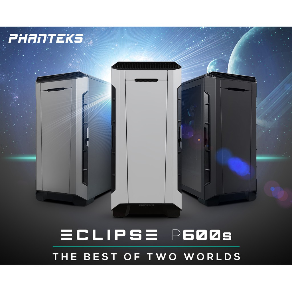 # PHANTEKS ECLIPSE P600S TG Hybrid Silent/ Performance PC Casing # [3 COLOR]