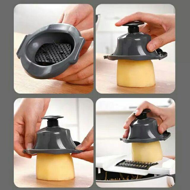 6 in 1 Wet Basket Vegetable Cutter Multifunctional Kitchen (pemotong sayur dan penapis)
