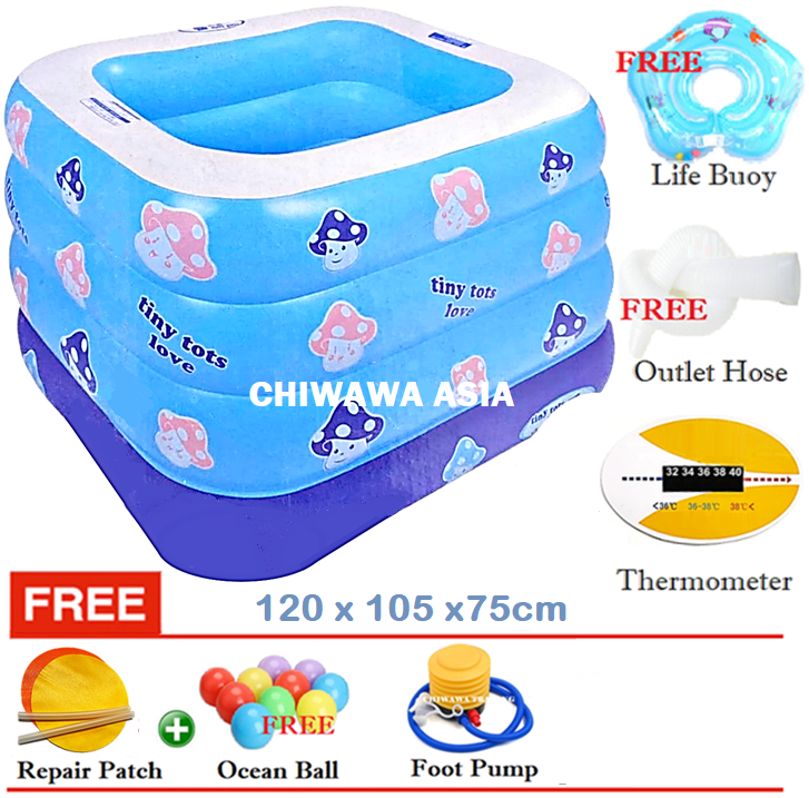 PROMOTION JL017369  Inflatable Swimming Pool Safe PVC Bath Basin KOLAM KANAK