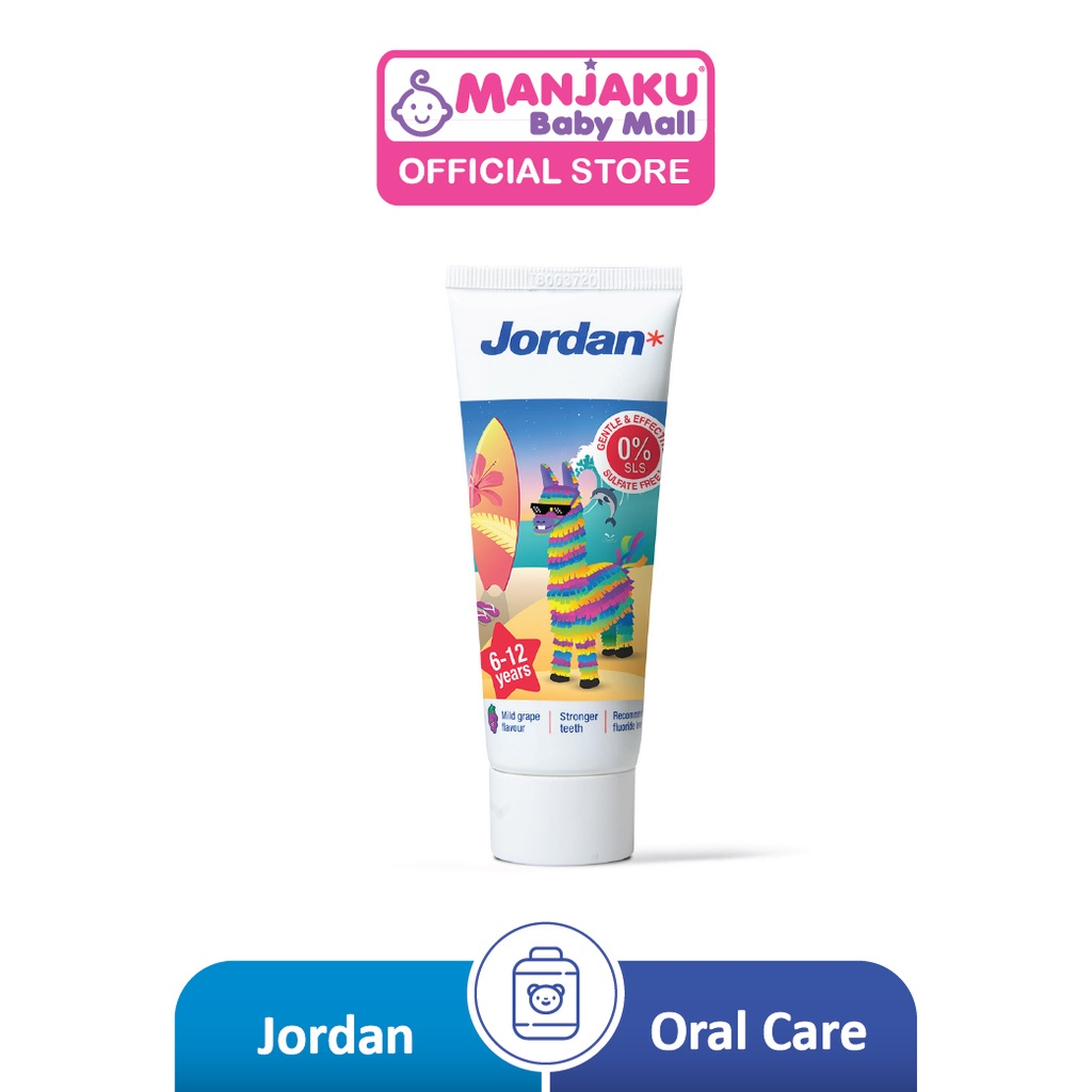 Jordan Kids Step 2 Toothpaste (Age 6-12) 75g - Assorted Colour