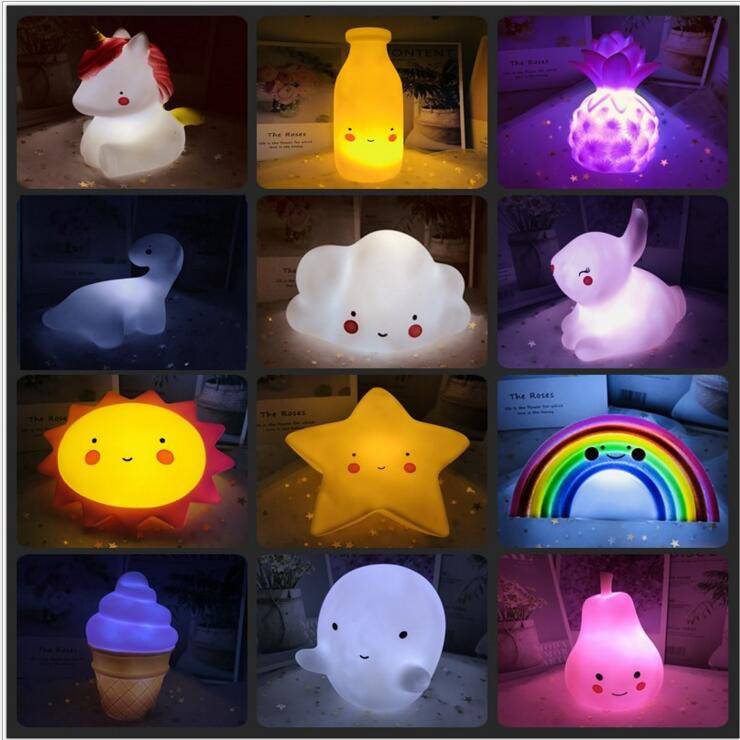 Lovely Yellow Duck LED Night Light Wall Lamp Kid Bedroom of Bed Lamp Decoration