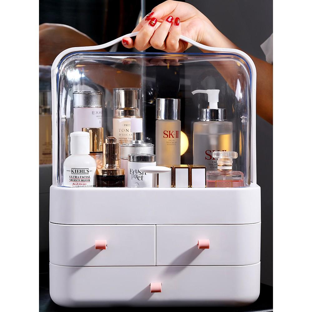 buy popular 0e05b 9b742 180 red cosmetic storage box dustproof with sound desktop acrylic dressing  table