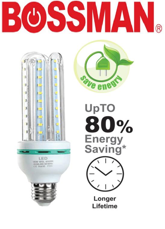 BOSSMAN LED ENERGY SAVING LIGHT BULB LAMPU COOL WHITE