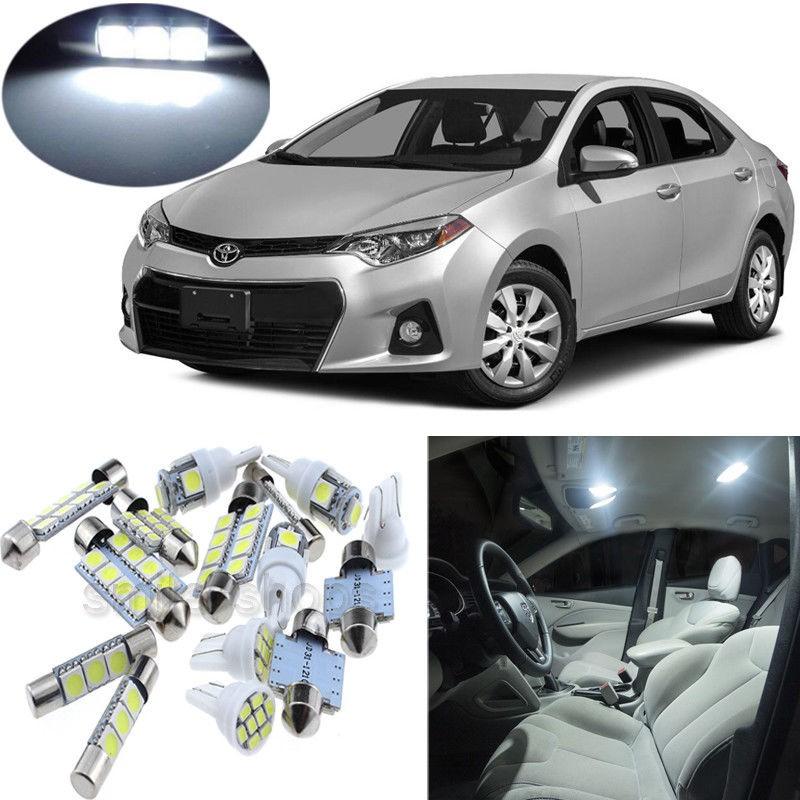 7pcs White Interior Led Light Package Kit For Toyota