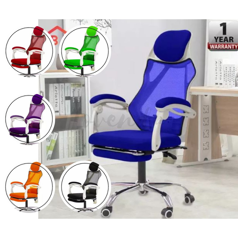High Back Office Chair With Footrest / Gaming Chair