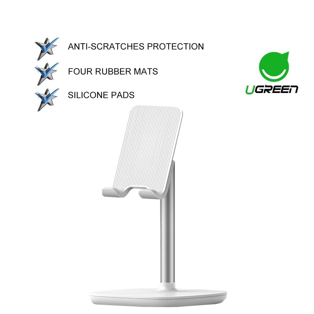 UGREEN Tablet Phone Stand for iPad Holder Desk Adjustable Compatible for iPad Pro Nintendo Switch Tablet 12.9 Inch
