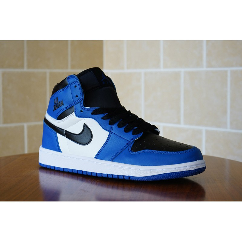 competitive price 9c768 5023a *Superbrand* 100% Original Nike Air Jordan 1 Rare Air AJ1 men women shoes  Sports Shoes Black Blue