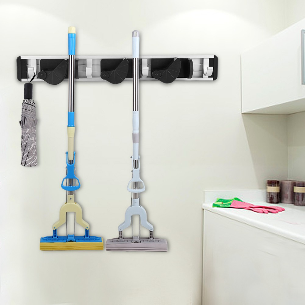 Mop Broom Suction Cup Holder Wall Mounted Vacuum House Organizer | Shopee Malaysia