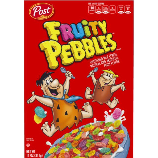 READY STOCK!!!! Post Fruity Pebbles Fruity Rice Cereal 311g MURAH!