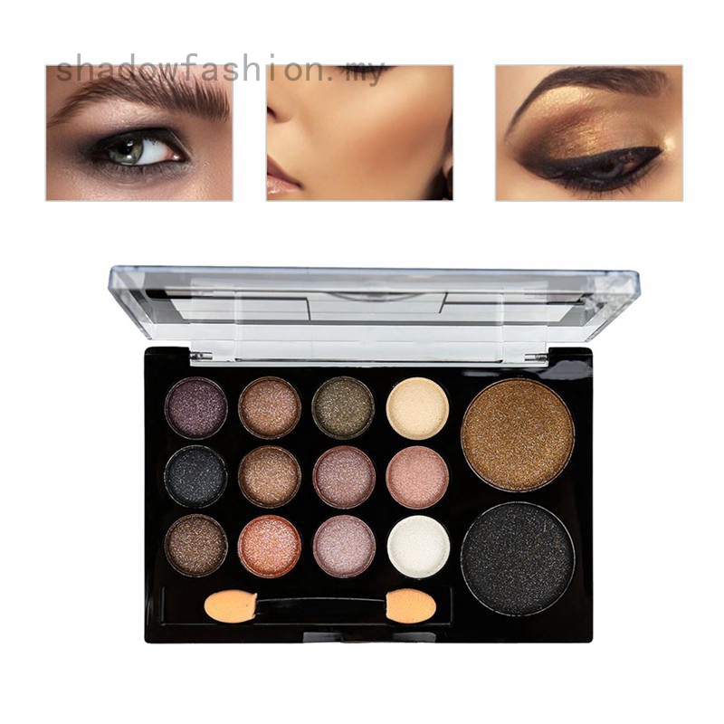 shadowfashion Professional 14 Warm Color Eyeshadow Palette Natural Nude Eye Shadow